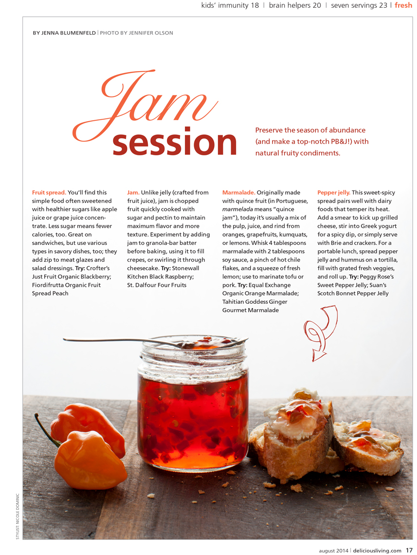 Delicious Living Red pepper Jelly