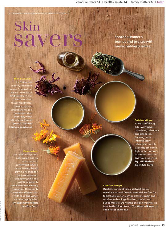 Delicious Living Salves